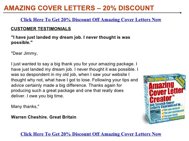 Amazing cover letter creator
