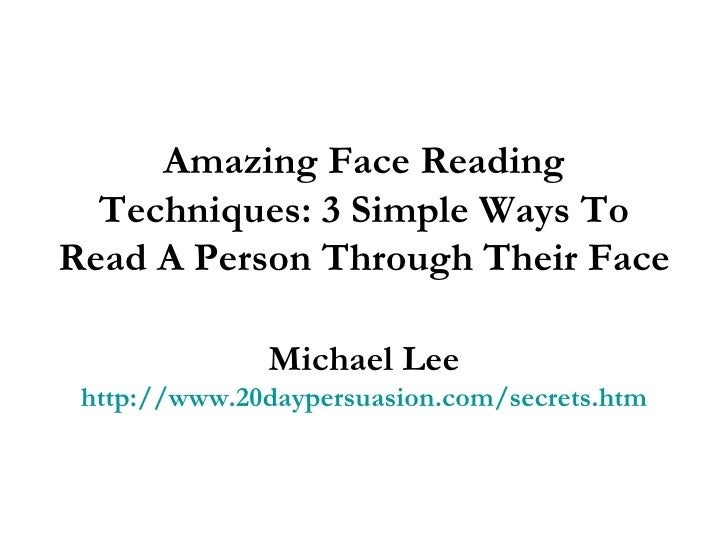 face reading techniques with images pdf