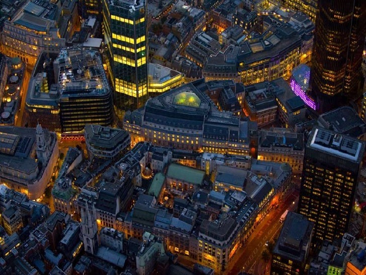 Amazing London from Above at Night
