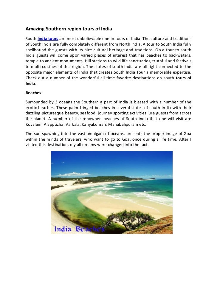 Amazing southern region tours of india