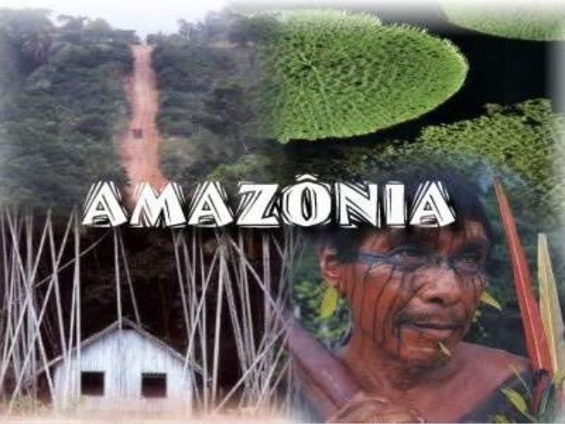 Introdução         A Amazônia é o maior conjunto de florestas tropicais do planeta,abrigando uma diversidade indescritível...
