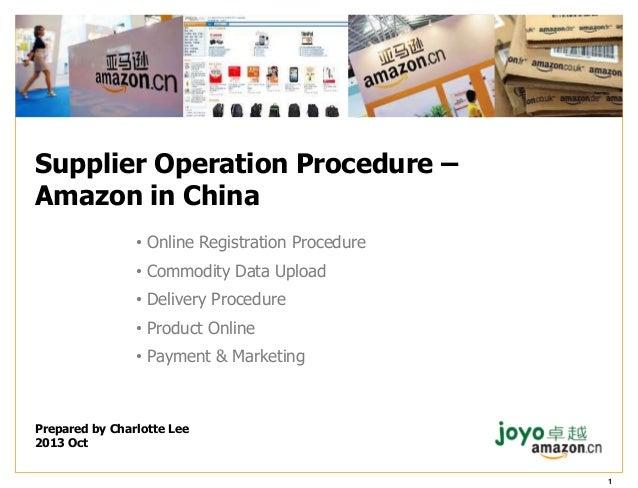 Amazon China - Operation Procedure