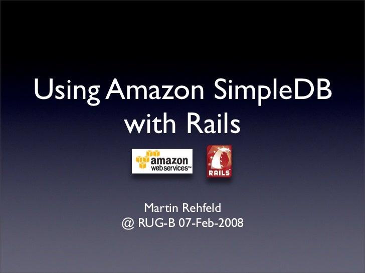 Using Amazon SimpleDB with Ruby on Rails