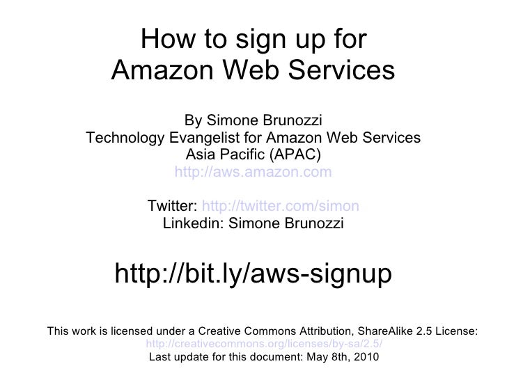 Amazon Web Services sign-up