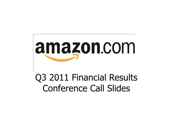 Q3 2011 Financial Results Conference Call Slides