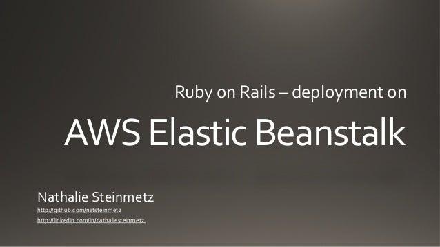 Ruby on Rails and AWS Elastic Beanstalk