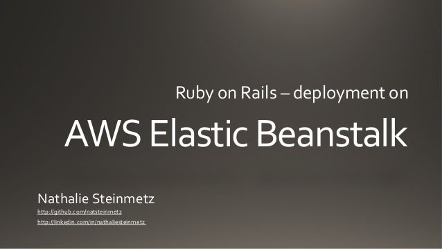 Ruby on Rails and AWS Elastic Beanstalk