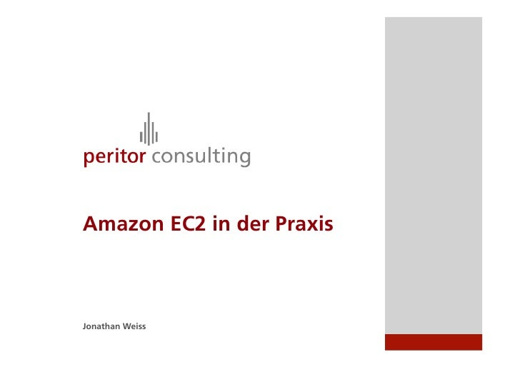 Amazon EC2 in der Praxis