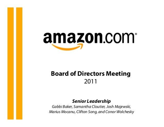 Strategy Presentation On Amazon
