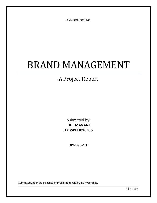 Amazon - Brand Management