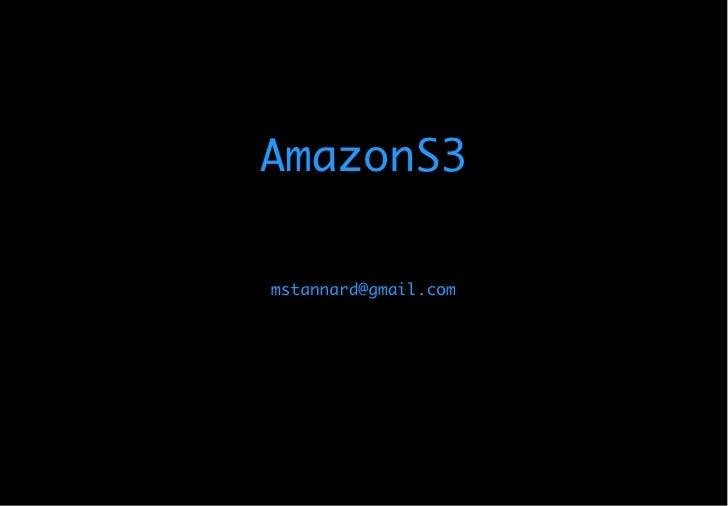 AmazonS3 & Rails