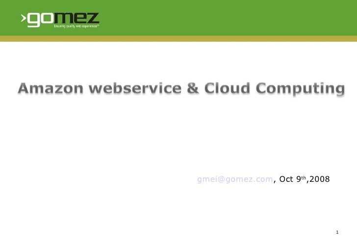 Amazon Webservice & Cloud Computing