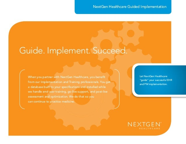 NextGen Healthcare Guided Implementation
