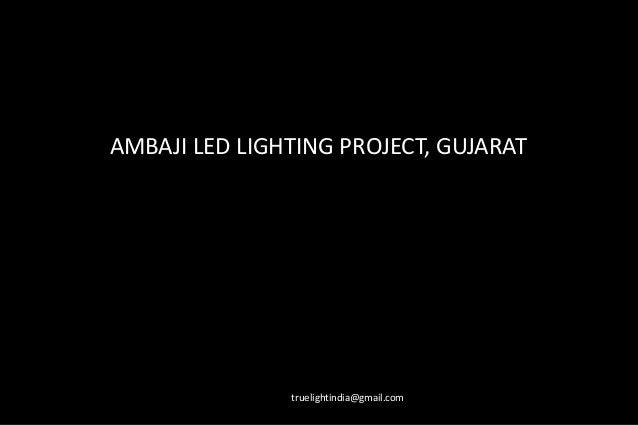 Ambaji project led lighting