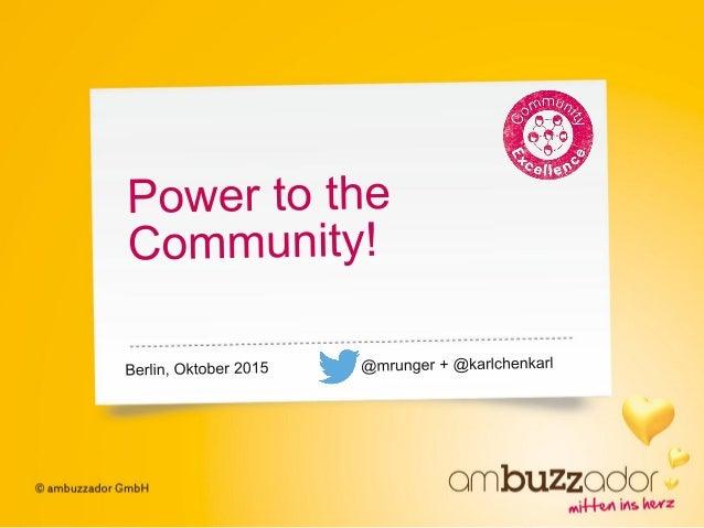 2 Definition | Community Hundert Bedeutungen, ein Begriff. • Wenn wir von einer Community sprechen, meinen wir: • Unsere d...