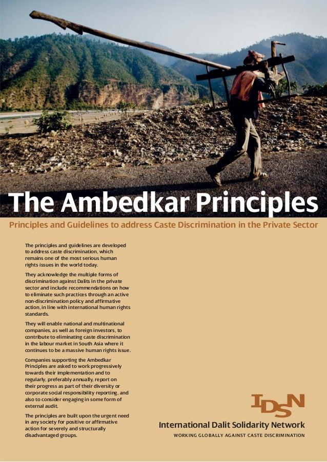 The Ambedkar Principles