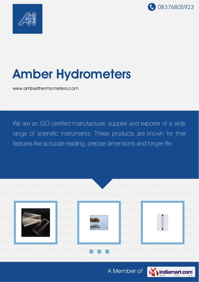 08376805923A Member ofAmber Hydrometerswww.amberthermometers.comLaboratory Instruments Rubber Goods Laboratory Glassware P...