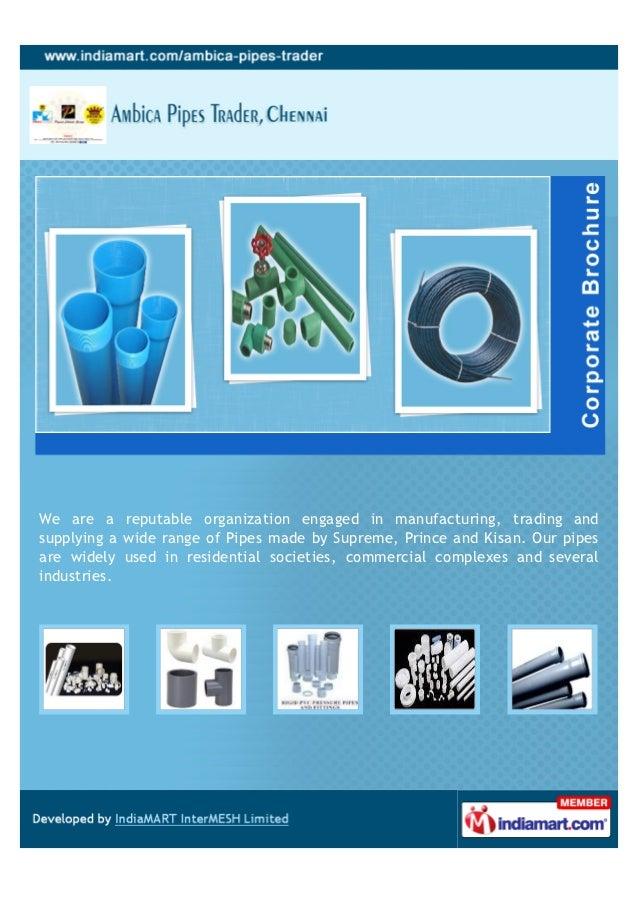 Ambica Pipes Trader, Chennai, Pressure Piping System