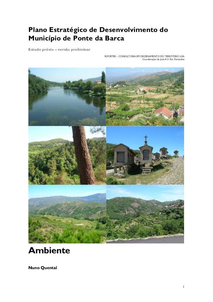 Ambiente - Plano estratégico de desenvolvimento do município de Ponte da Barca