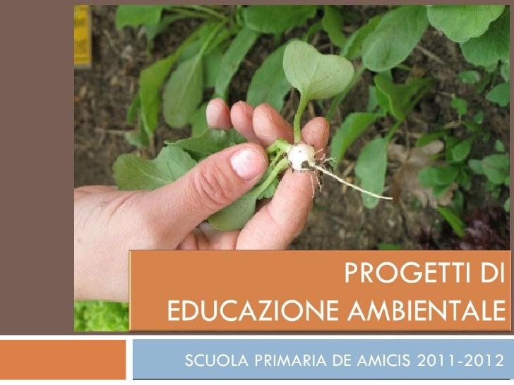 SCUOLA PRIMARIA DE AMICIS 2011-2012
