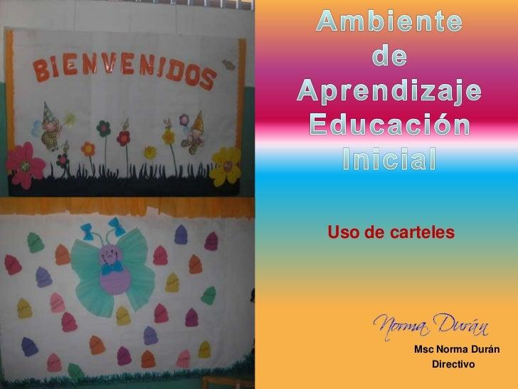 Uso de carteles               Msc Norma Durán              Directivo