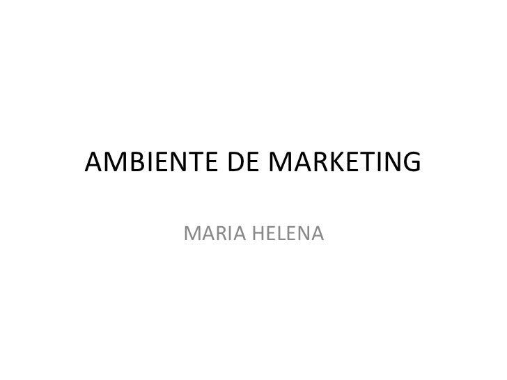 AMBIENTE DE MARKETING MARIA HELENA