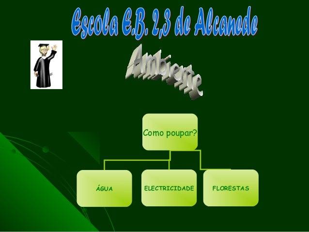Como poupar?ÁGUA   ELECTRICIDADE   FLORESTAS