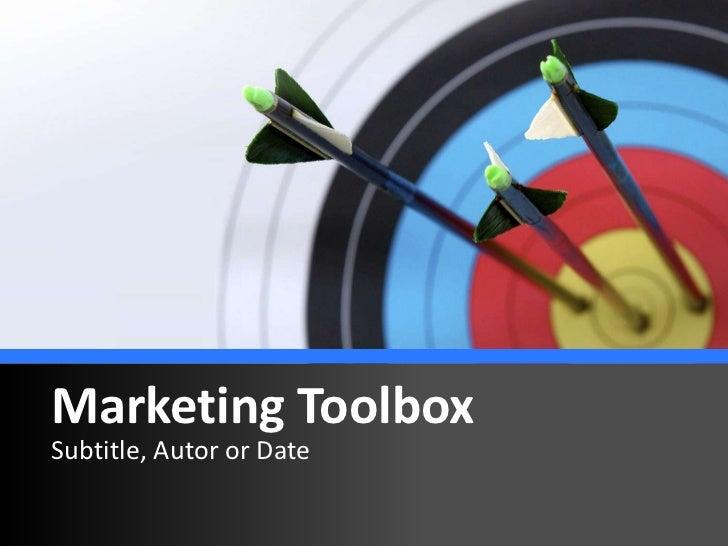 Marketing ToolboxSubtitle, Autor or Date