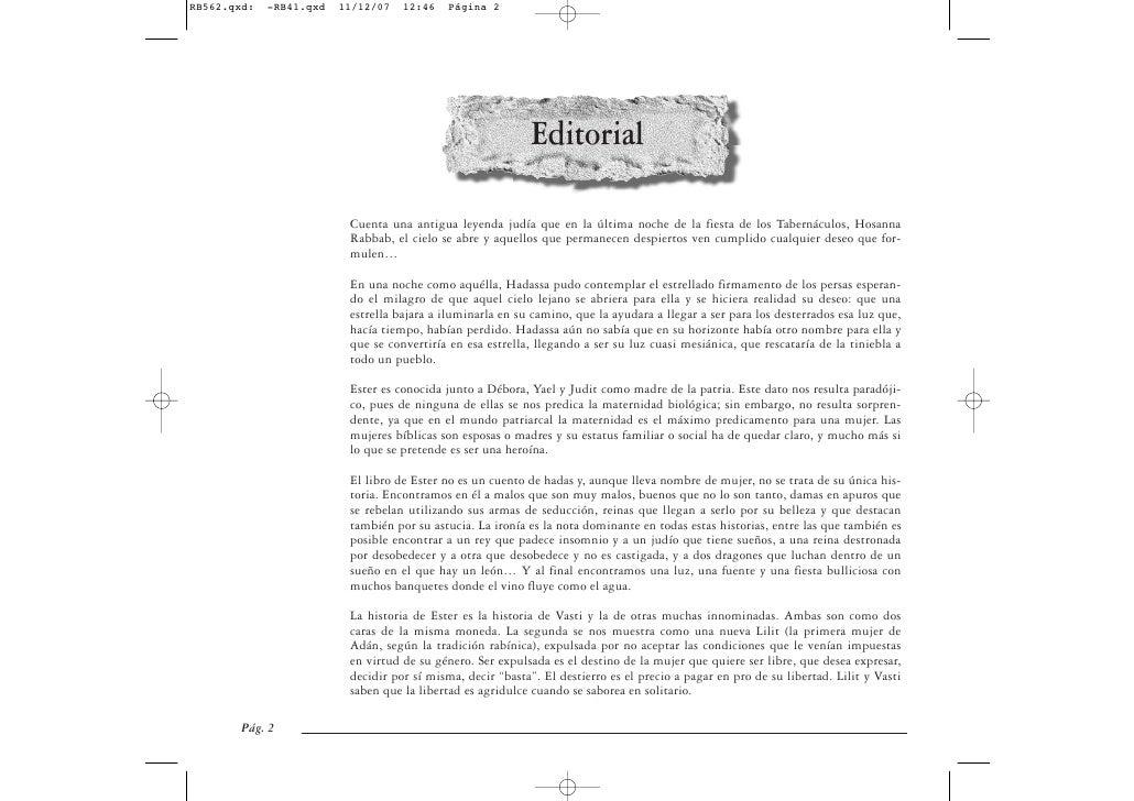 Editorial           Cuenta una antigua leyenda judía que en la última noche de la fiesta de los Tabernáculos, Hosanna     ...