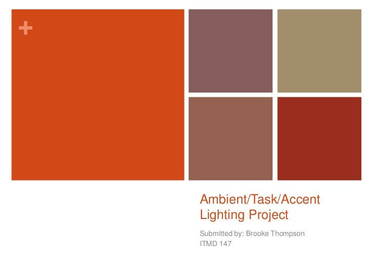 Ambient/Task/Accent Lighting