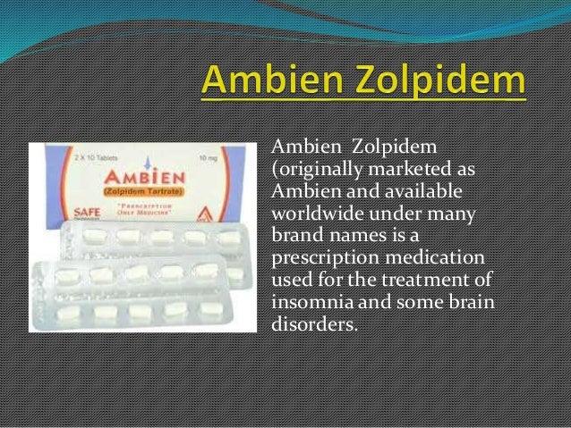 Ambien brand name manufacturer