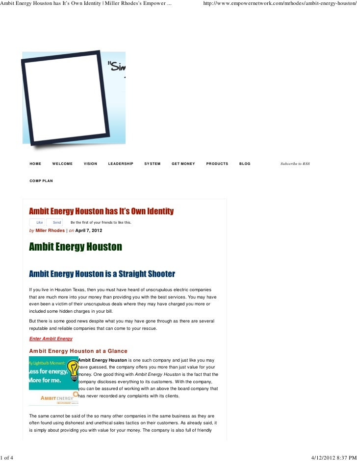 Ambit Energy Houston has It's Own Identity | Miller Rhodess Empower ...                            http://www.empowernetwo...