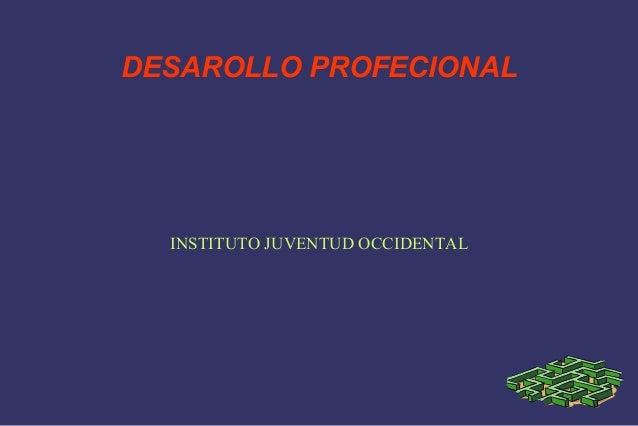 DESAROLLO PROFECIONAL  INSTITUTO JUVENTUD OCCIDENTAL
