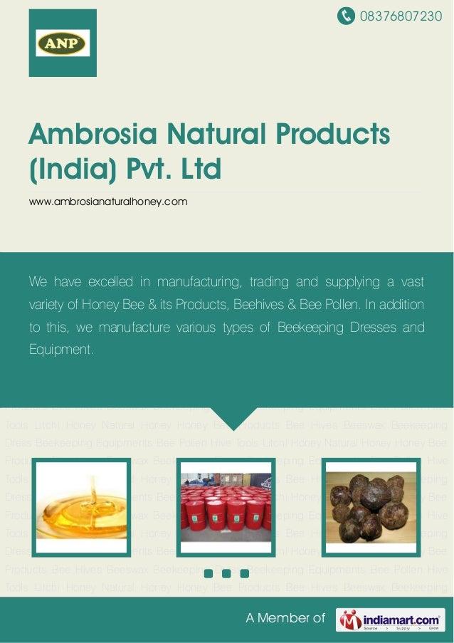 08376807230 A Member of Ambrosia Natural Products (India) Pvt. Ltd www.ambrosianaturalhoney.com Litchi Honey Natural Honey...