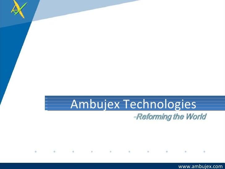 Ambujex Capability Presentation Final