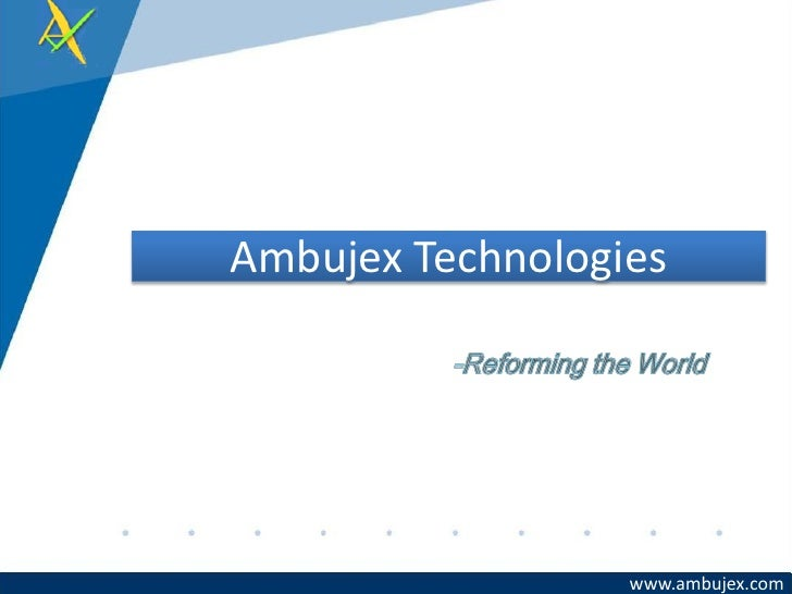 Ambujex Capability Presentation
