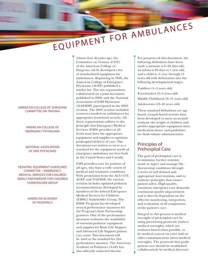 Ambulancias equipamiento