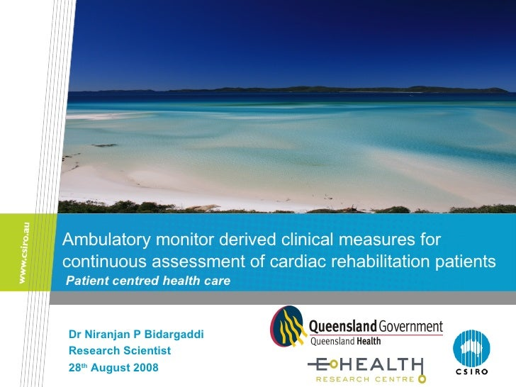 Ambulatory monitor derived clinical measures for continuous assessment of cardiac rehabilitation patients