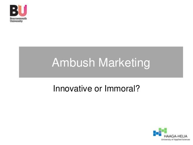 Ambush marketing guest lecture