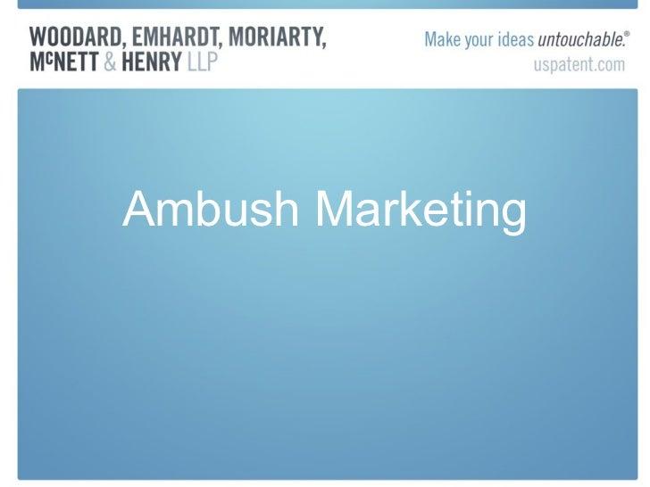 Ambush Marketing and Clean Zone Ordinances for the Upcoming 2012 Indianapolis Super Bowl