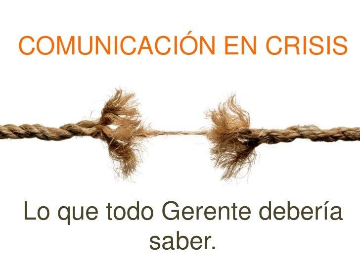 Comunicacion en crisis - Desayuno de Networking