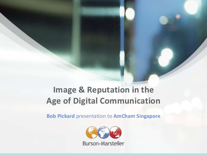 Image and reputation in the age of digital communication