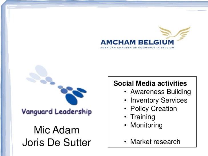 Sociale Media Presentation at Amcham (Belgium)
