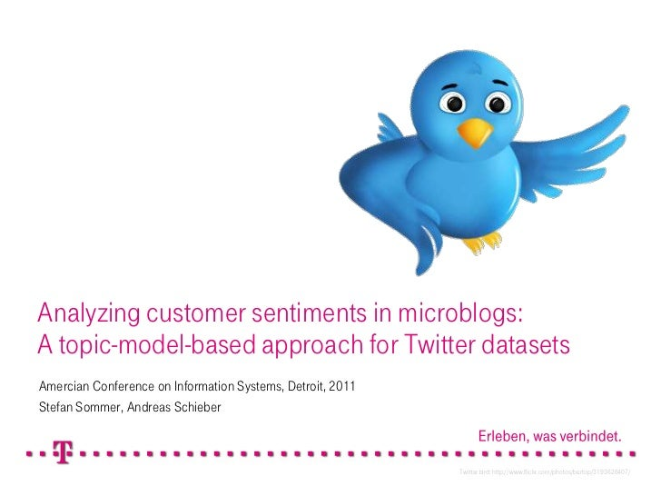 Analyzingcustomersentiments in microblogs:A topic-model-basedapproachforTwitterdatasets<br />Amercian Conference on Inform...