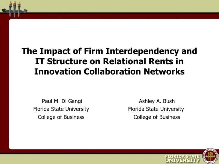 The Impact of Firm Interdependency and IT Structure on Relational Rents in Innovation Collaboration Networks <ul><li>Paul ...
