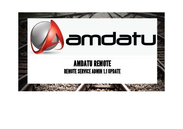 Amdatu Remote - Remote Service Admin 1.1 Update - B de Kruijff