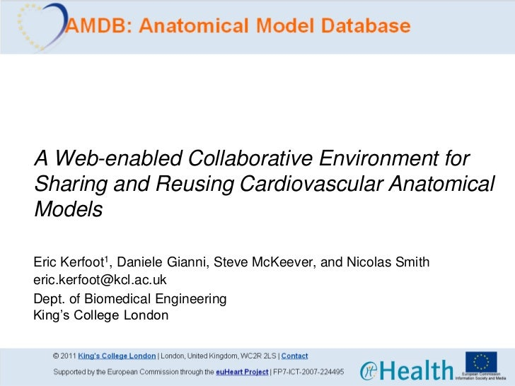 A Web-enabled Collaborative Environment forSharing and Reusing Cardiovascular AnatomicalModelsEric Kerfoot1, Daniele Giann...
