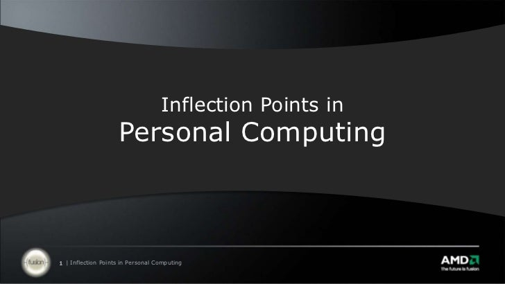 Inflection Points in Personal Computing