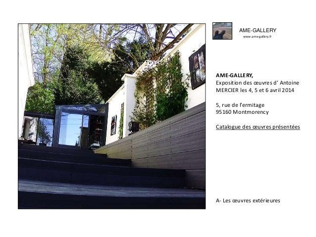 Ame gallery exposition des oeuvres d'antoine mercier avril 2014 -a-les oeuvres extérieures-