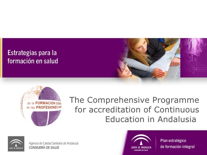 The Comprehensive Programme for accreditation of Continuous Education in Andalusia